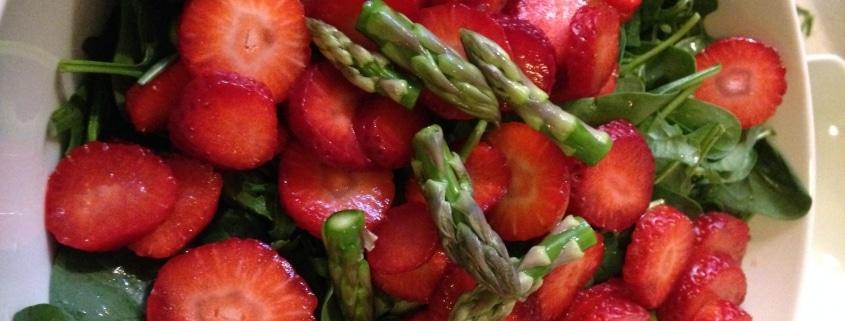 sommersalat asparges jordbær
