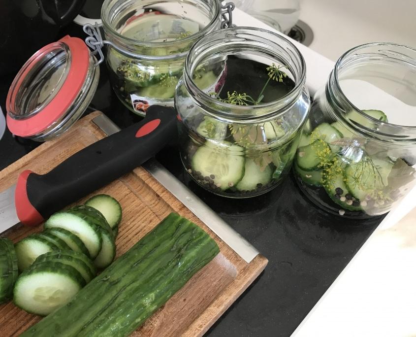 Syltede salatagurker